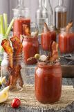 Smoked Pepper Bacon Bloody Mary Stock Images