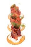 Smoked pepper salmon cream cheese Stock Image