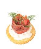 Smoked pepper salmon cream cheese Stock Photography