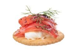 Smoked pepper salmon cream cheese Royalty Free Stock Image