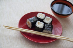 Smoked perch maki Royalty Free Stock Photo