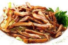 The smoked pig ears Stock Photography