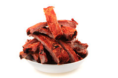 Smoked pig ribs Royalty Free Stock Photography