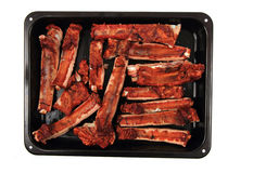 Smoked pig ribs Stock Photography