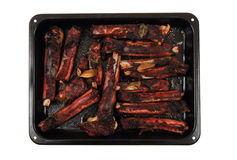 Smoked pig ribs Royalty Free Stock Photos