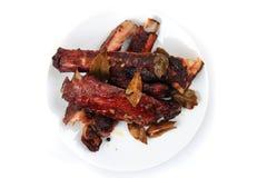 Smoked pig ribs Stock Image