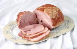 Smoked pork. Slices of smoked pork bacon Royalty Free Stock Image