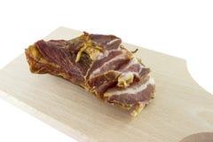 Smoked pork bacon Stock Image