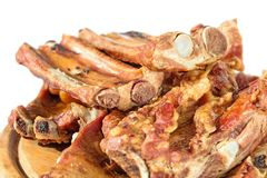 Smoked pork bone Stock Image