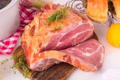 Smoked pork chop Royalty Free Stock Photos