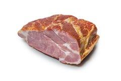 Smoked pork chop on white Royalty Free Stock Photos
