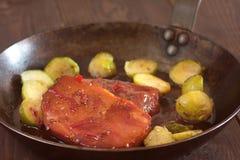Smoked pork chops Stock Photos