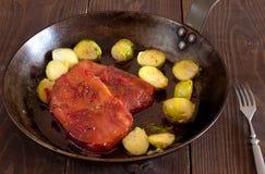 Smoked pork chops Stock Photo