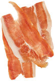 Smoked Pork Ham Prosciutto Slices Isolated on White Background  Royalty Free Stock Photography