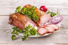 Smoked pork loin Stock Photography