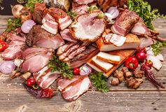 Smoked pork meat Stock Photography