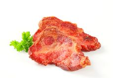 Smoked pork neck Royalty Free Stock Photo