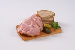 Smoked pork neck with bread Stock Photo