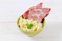 Smoked pork with potato salad Stock Photography