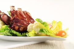Smoked pork ribs Royalty Free Stock Photo