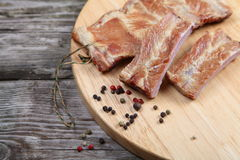Smoked pork ribs Stock Photography