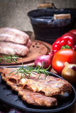 Smoked pork ribs. Stock Images