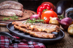 Smoked pork ribs. Stock Photography