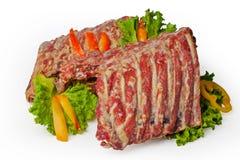 Smoked pork ribs Stock Photography