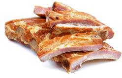 Smoked Pork Ribs Stock Photo