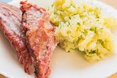Smoked pork ribs Royalty Free Stock Photo