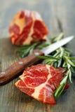 Smoked pork and rosemary. Stock Photo