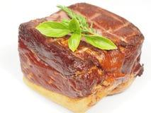 Smoked pork with rosemary Stock Image