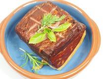 Smoked pork with rosemary Stock Photo