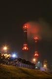 Smoked power station Stock Photo