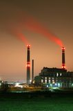 Smoked power station Royalty Free Stock Photography