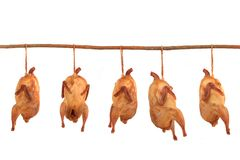 Smoked quails Stock Images