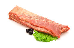 Smoked raw bacon Royalty Free Stock Photography