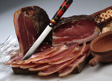 Smoked raw ham Stock Image