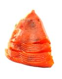 Smoked red fish fillet over white Royalty Free Stock Photography