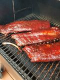 Smoked ribs royalty free stock images