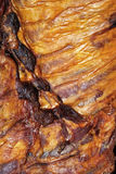 Smoked ribs detail. In a bbq day royalty free stock photos
