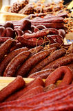 Smoked salami Royalty Free Stock Photos