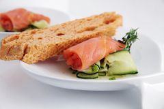 Smoked salmon Stock Photos