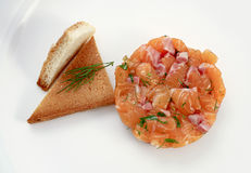 Smoked salmon. Parcels in the round form Royalty Free Stock Images