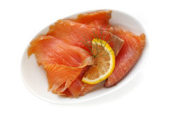 Smoked Salmon Royalty Free Stock Photography