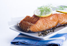 Smoked salmon Royalty Free Stock Image