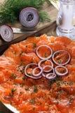Smoked salmon Stock Image