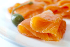 Free Smoked Salmon Stock Photography - 25551782