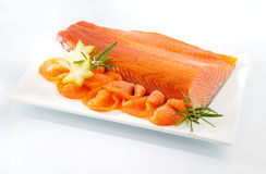 Smoked salmon Stock Photo