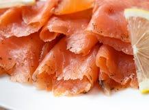 Smoked Salmon. Close up of Smoked Salmon Royalty Free Stock Photos